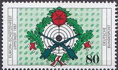 Deutsche Briefmarken (micky the pixel) Tags: briefmarke stamp ephemera deutschland bundespost schützenfest europaschützenfest lippstadt schiesscheibe target