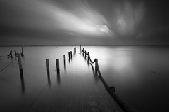 B&W0258 (pixFINEART) Tags: blackwhite dock long exposure clouds sky ria aveiro portugal murtosa ovar torreira ligh