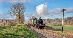 4144 - Severn Valley Railway - 20 March 2019-51 (Mike Heath Photo) Tags: svr severn valley railway gwr great western didcot centre drc 4144 prairie large tank engine england uk steam locomotive train 30742 charter matt fielding