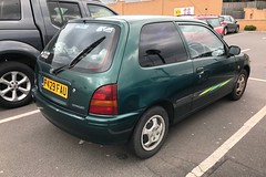 Sportif (Sam Tait) Tags: car retro door 3 green hatchback starlet toyota 1997 sportif 1300 1 13 petrol