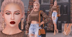 Brown chic (Dan Gericault Lol and XD 4Evah) Tags: secondlife sl slfashion aurealis slackgirl appliers akerukadeluxe akerukaak skin gift applier bentohead senihaoriginals shoes dubaievent bloomevent amiable villena luneposes lune poses runaway hair accessories