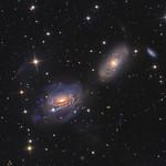 Interacting galaxies in Sextans, NGC 3169, NGC 3166, and NGC 3165 thumbnail