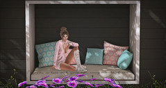 *Spring: a lovely reminder of how beautiful change can truly be* ❤ (Ⓐⓝⓖⓔⓛ (Angeleyes Roxley)) Tags: private garden wall goose sl secondlife mainstore single couple