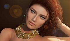 KUNGLERS - Sandra necklace AD (AvaGardner Kungler) Tags: kunglers avagardnerkungler sense secondlife mesh digital photography photoshop necklace statement beads jewelry virtual