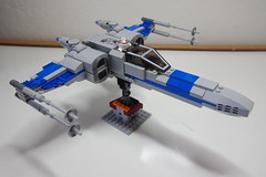 (Improved) Standard Resistance X-wing: Right-Top View (Evrant) Tags: lego star wars custom x wing moc starfighter spaceship starship ship t70 t 70 resistance evrant