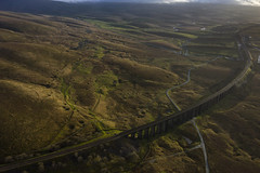 Ribblehead_04 (julesh1966@googlemail.com) Tags: ribbleheadviaduct northyorkshire yorkshiredales sunrise clouds railway landscape grassland ingleborough colour autumn ariel drone