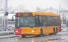 Scania Omnilink Arriva 1520 works the 1A as it snows (sms88aec) Tags: scania omnilink arriva 1520 works 1a it snows