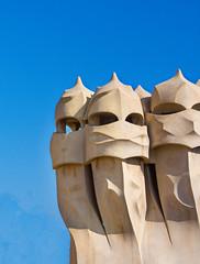 Casa Mila (La Pedrera) by Antoni Guadi (john weiss) Tags: barcelona leixample lapedrera places spain guadi casamila