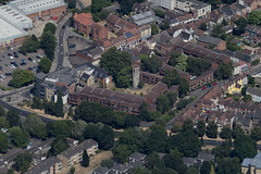 Aerial of St Benedict's Church ruins in Norwich UK (John D Fielding) Tags: norwich norfolk church ruin above aerial nikon d810 hires highresolution hirez highdefinition hidef britainfromtheair britainfromabove skyview aerialimage aerialphotography aerialimagesuk aerialview drone viewfromplane aerialengland britain johnfieldingaerialimages fullformat johnfieldingaerialimage johnfielding fromtheair fromthesky flyingover fullframe