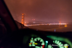 View of the Golden Gate from the Cockpit (kumagai.atsushi) Tags: goldengate goldengatebridge night nightphotography nikon 24mm14 bokeh