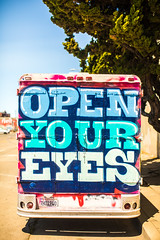 Open Your Eyes (Thomas Hawk) Tags: america california eastbay oakland usa unitedstates unitedstatesofamerica westcoast westoakland graffiti sanfrancisco us fav10 fav25