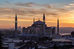 Surise over the Bosporus (Rjianis) Tags: sunrise hagia sophia hagiasophie istanbul turkey bosporus landscape landschaft sonnenaufgang mosque sky cloudporn clouds