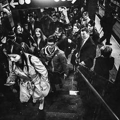 rush hour (marikoen) Tags: nyc blackandwhite streetphotography