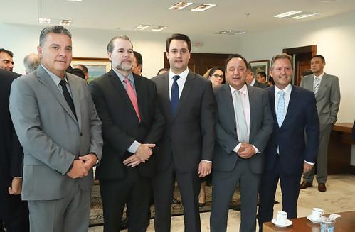 Reunião e Almoço com presidente do STF, Ministro Dias Toffoli / Ministro do STF, Edson Fachin / Ministro do STJ, Joel Paciornick e Senadores