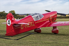 Percival Mew Gull - 02 (NickJ 1972) Tags: shuttleworth collection oldwarden race day airshow 2018 aviation percival mew gull ghekl 4 replica