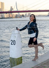 Walking and posing along the river (Natassia Crystal) Tags: tgirl transgender crossdresser crossdress crossdressing transvestite travestiet tg tv cd natassiacrystal natassia crystal natcrys nat crys tassia highheels stilettoheels otk camel boots camelboots leatherjacket overtheknee ootd outfit instagram facebook youtubevideo fashionblog httpnatcrysblogspotcom outdoor photoshoot posing lookbook sexyboots casualoutfit jeansoutfit video