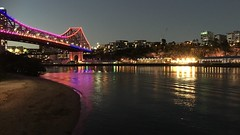 Story Bridge and Howard Smith Wharves, Brisbane, Queensland (David McKelvey) Tags: 2019 australia queensland brisbane river story bridge howard smith wharves iphone6plus