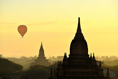 Bagan, Myanmar (Neal J.Wilson) Tags: hot air balloon ballooning myanmar burma asia temples buddhisttemple buddhism stupa bagan travel travelling dawn sunrise