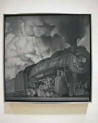 Train, by Vija Celmins (JB by the Sea) Tags: sanfrancisco california december2018 financialdistrict sanfranciscomuseumofmodernart sfmoma vijacelmins painting