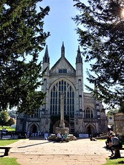 Winchester Cathedral on this glorious Sunday in late summer (photo by Rakshita Patel)