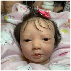 New baby coming! Realborn Amanda Awake by Bountiful Babies. Reborned by @three_chickadees_nursery (it's a doll world☺) Tags: miranda awake wip reborn baby doll