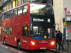 *Rare Working* - A very pleasant surprise during the evening rush hour. Really good to see a mix-up on an LTZ route | Stagecoach London ADL Enviro 400H (SL14LNV) working the 8 to Bow Church. (alexpeak24) Tags: sl14lnv bowchurch tottenhamcourtroad 8 hybrid enviro400 alexanderdennis london stagecoach rareworking