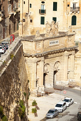 From the upper Barrakka (archidave) Tags: valletta malta grandharbour walls fortifications city urban gate victoria