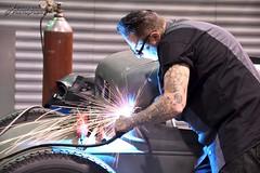 Voodoo Larry_01_DSC_2099_WM (Nomad Joe) Tags: worldofwheels voodoolarry welding hardatwork craftsman demonstration customcar hotrod