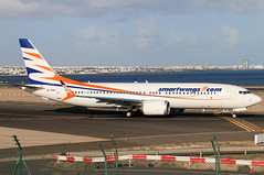 OK-SWA_01 (GH@BHD) Tags: okswa 737 738 73m 737max 737max8 b737 b738 b73m qs tvs travelserviceairlines travelservice smartwings ace gcrr arrecifeairport arrecife lanzarote aircraft aviation airliner