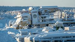 Hibernation - Winterschlaf (ralfkai41) Tags: schnee lkw snow eis eingeschneit schweden truck technik sweden ice frost lorry winter technic