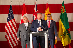 Canada's Premiers/les premiers ministres des provinces et territoires speak to the media/s'addressent aux médias at the U.S. Chamber of Commerce/à la Chambre de commerce des É-U