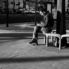 Around the tree (pascalcolin1) Tags: paris13 homme man tree arbre around automne banc bench photoderue streetview urbanarte noiretblanc blackandwhite 50mm canon50mm canon lumière light soleil sun
