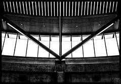 window in the edge (MAICN) Tags: glass architektur building mono dach licht sw light bw glas blackwhite monochrome geometrisch lines schwarzweis roof architecture linien einfarbig gebäude geometry linesymmetry