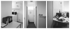 Out of office (Christoph Schrief) Tags: büro office interieur triptychon chamonixc45h1 rodenstocksironarn56150 ilfordfp4 rodinal stearmantank epsonperfection750 silverfast 4x5 largeformat grossformat selfdeveloped film analog bw sw