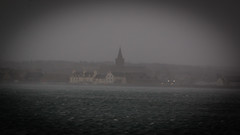 Squall (MBDGE >1.5 Million Views) Tags: orkney squall rain wing wind gale sea bay stmagnuscathedral spire pinnacle grey moody canon wether 2019 kirkwall water sky city ocean building