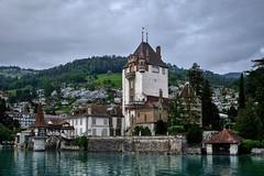 Lake Thun. Interlaken, Switzerland (varfolomeev) Tags: 2018 швейцария горы switzerland mountains fujifilmxt10 castle замок