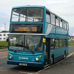 ARRIVA NORTH EAST 7459 T306FGN IS SEEN AT TYNEMOUTH ON 17 JULY 2011