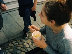 070419001 (francescoccia) Tags: analogue analog francescoccia 110 110film pocketfilm scotch scotchcolor pentax pentaxauto110 reflex modena emilia tortellini girl street food