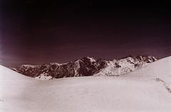 The Other Earth (Tamar Burduli) Tags: 35mm nature landscape film analog mountains mountainscape winter snow travel maroon dark red georgia caucasus gudauri surreal psychedelic zenit kodak