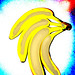 High Contrast Bananas with aura