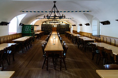 Beer Hall - You will have to picture the crowds enjoying themselves on your own (Brett of Binnshire) Tags: chair furniture floor food pub ceiling locationrecorded brewery vaulted andechs restaurant ale germany bavaria architecture bayern de