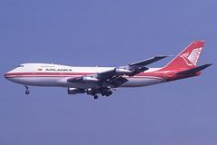 4R-ULF Gatwick 12-8-1984 (Plane Buddy) Tags: 4rulf boeing 747 airlanka lgw gatwick