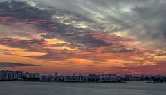 Sunset Boca Ciega Bay (vwalters10) Tags: sunset bay clouds buildings trees sunrise florida night