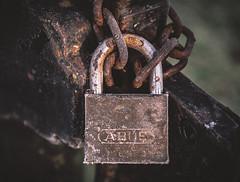 Padlock_ (Andy..D) Tags: bridgnorth d500 padlock lock rust old chain gate