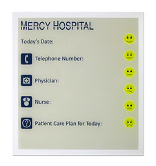 InfoSign (2/90 Sign Systems) Tags: 290 sign signs signage systems wayfinding facility modular 290signsolutions info board dry erase hospital patient