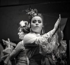 Ebro women. (Fencejo) Tags: canon600dt3ikissx5 canonef100mmf2usm zaragozazgz dancer flamenco music blackwhitebwblackandwhitemonochrome snapseed