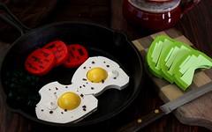 A Healthy Start (-LittleJohn) Tags: lego moc build creation model avocado tomato egg eggs kale food photography slices breakfast
