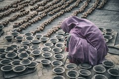 Work in Pottery Square (Roberto Pazzi Photography) Tags: portrait people street outdoor pottery factory bhaktapur woman square worker culture asia photography place asian one person ethnicity nepal full length work nikon