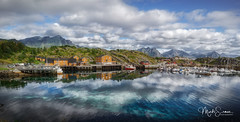 Stamsund (marko.erman) Tags: orway nordland village fishermen sea mountains water clouds beautiful sony scenic idyllic nature outdoor outside travel popular quiet serenity pure transparency landscape nordic steep sunny montagne ciel paysage eau lac mer dwelling reflections lofoten panorama baie océan vestvågøya stamsund charming isalnd