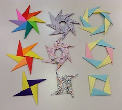 4,6 & 8-Piece Expandable Pinwheel #2 (maplecrane) Tags: origami modular toy actionmodel
